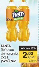 Oferta de Refresco de naranja  2 x 2 l Fanta por 2€