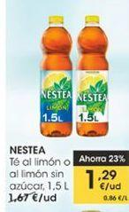 Oferta de Té al limón sin azúcar, 1.5 l Nestea por 1,29€