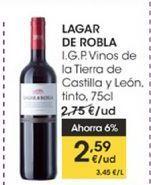 Oferta de Lagar de la Robla I.G.P Vinos de la tierra de Castilla y León, tinto, 75 cl por 2,59€