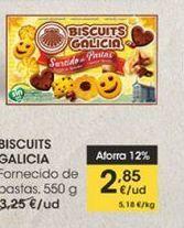 Oferta de Surtido de pastas, 550 G BISCUITS GALICIA por 2,85€