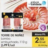Oferta de Lomo embuchado 110 g Torre de Núñez por 2,55€