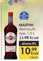 Oferta de Vermouth rojo  Martini 1.5 l por 11,95€