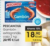 Oferta de Gambón extragrande, caja 2 kg Pescanova por 18,9€
