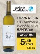 Oferta de Terra Rubia D.O Monterrei, vino blanco, 75 cl por 5,45€