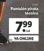 Oferta de Pantalones pirata Crivit por 7,99€