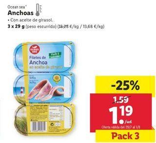 Oferta de Anchoas ocean sea por 1,19€