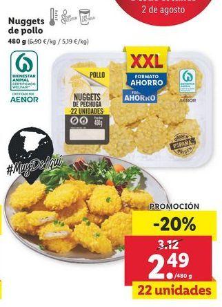 Oferta de Nuggets de pollo por 2,49€