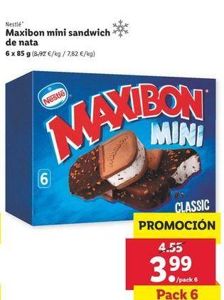 Oferta de Maxibon mini sandwich Nestlé por 3,99€