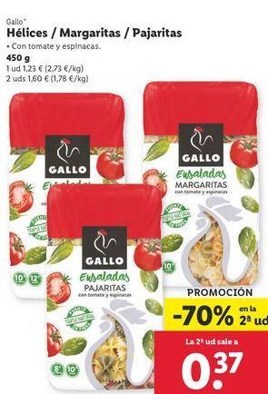 Oferta de Helices/ Margaritas/pajaritas Gallo por 1,23€