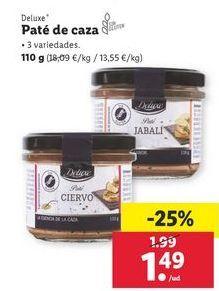 Oferta de Paté de caza Deluxe por 1,49€