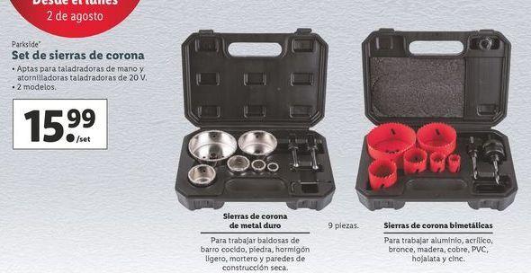 Oferta de Set de sierra de corona Parkside por 15,99€