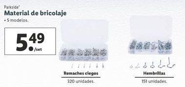 Oferta de Materiales de bricolaje Parkside por 4,99€