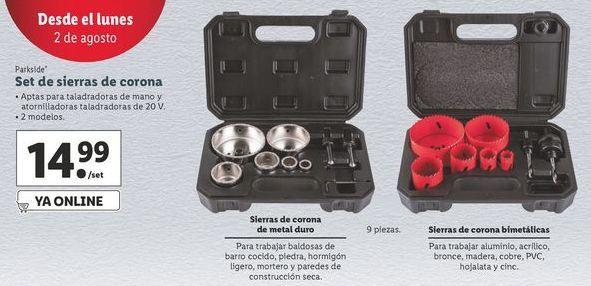 Oferta de Sierra de corona Parkside por 14,99€