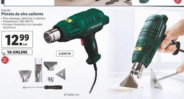 Oferta de Pistola de aire caliente Parkside por 12,99€