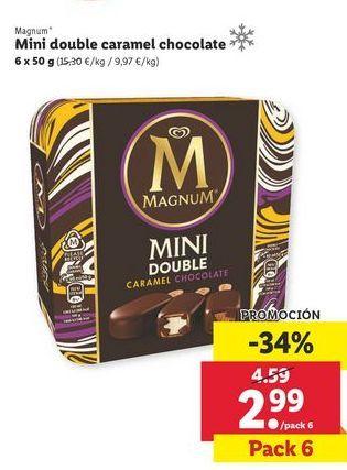 Oferta de Mini double caramel chooalte Magnum por 2,99€