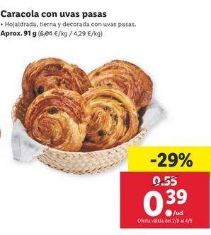Oferta de Caracola con uvas pasas  por 0,39€