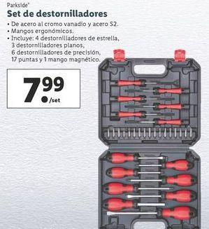 Oferta de Set de destornillador Parkside por 7,99€