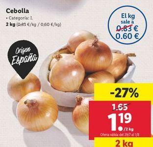 Oferta de Cebollas por 1,19€