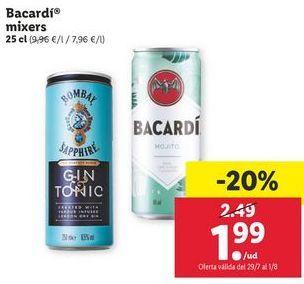 Oferta de Bacardi Mixers por 1,99€