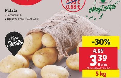 Oferta de Patatas por 3,39€
