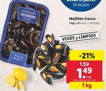 Oferta de Mejillones fresco  por 1,49€