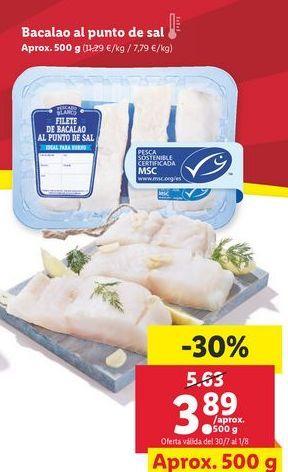 Oferta de Bacalao al punto de sal  por 3,89€