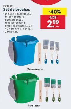 Oferta de Brocha Parkside por 2,99€