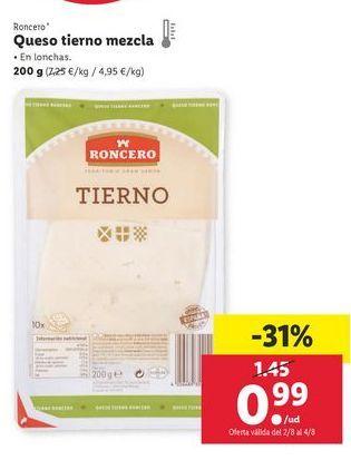 Oferta de Queso mezcla Roncero por 0,99€