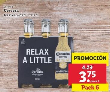 Oferta de Cerveza Coronita por 3,75€