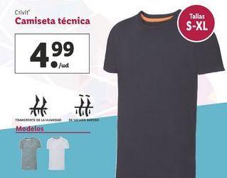 Oferta de Camiseta técnica Crivit por 4,99€