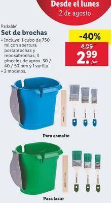 Oferta de Set de brochas Parkside por 2,99€