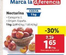 Oferta de Nectarinas por 1,65€