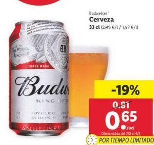 Oferta de Cerveza Budweiser por 0,65€
