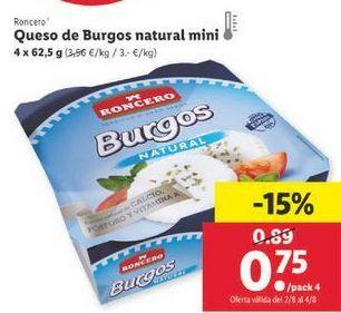 Oferta de Queso de burgos Roncero por 0,75€