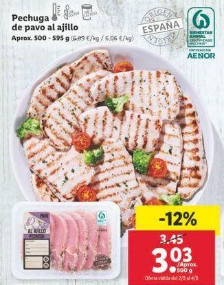 Oferta de Pechuga de pavo al ajillo por 3,03€