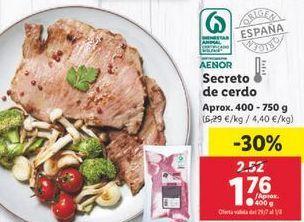 Oferta de Secreto de cerdo por 1,76€