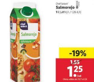 Oferta de Salmorejo chef select por 1,25€