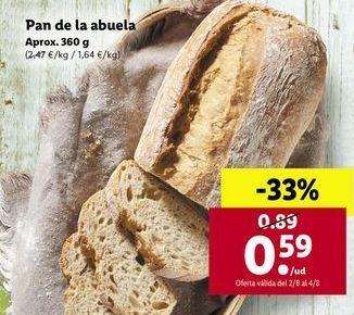 Oferta de Pan de la abuela por 0,59€