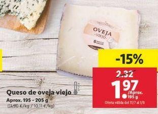 Oferta de Queso de oveja viejo  por 1,97€