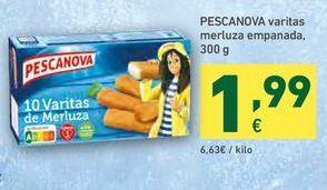 Oferta de Varitas de merluza Pescanova por 1,99€