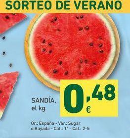 Oferta de Sandía por 0,48€