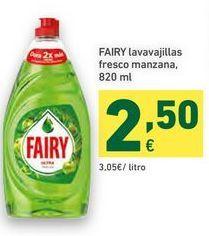 Oferta de Detergente lavavajillas Fairy por 2,5€
