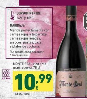 Oferta de Vino tinto Monte Real por 10,99€