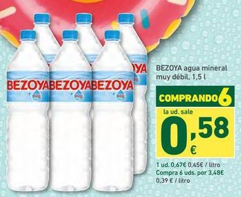 Oferta de Agua Bezoya por 0,67€