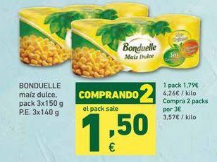Oferta de Maíz dulce Bonduelle por 1,79€