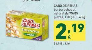 Oferta de Berberechos Cabo de Peñas por 2,19€