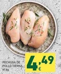 Oferta de Pechuga de pollo por 4,49€