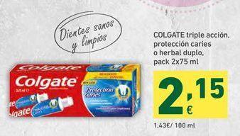 Oferta de Crema dental Colgate por 2,15€