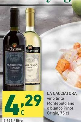 Oferta de Vino la cacciatora por 4,29€