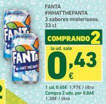 Oferta de Refrescos fanta por 0,65€